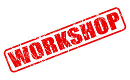 Workshop red stamp text Royalty Free Stock Photography