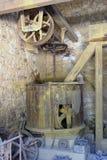 A workshop Roussillon ocher factory Stock Photo