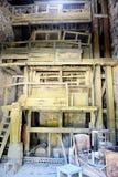 A workshop Roussillon ocher factory Royalty Free Stock Photos