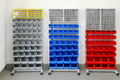 Workshop shelves Stock Photo