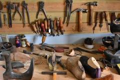 Workshop of a shoemaker Stock Photo