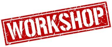 Workshop stamp. Workshop square grunge sign isolated on white. workshop stock illustration