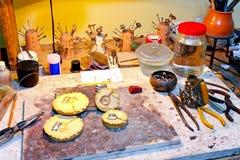 Workshop table Stock Photos