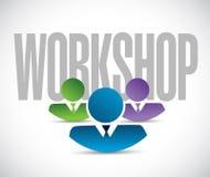 Workshop team sign illustration design graphic Royalty Free Stock Images