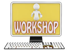 Workshop text Royalty Free Stock Photo