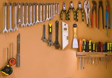 Workshop tools Royalty Free Stock Photos
