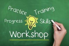 Workshop Training Practice Stock Image