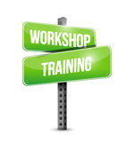 Workshop training street sign illustration design Stock Photography