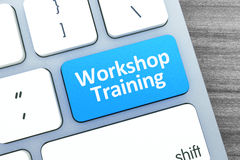 Workshop Training Text on a Button on Modern Computer Keyboard. Stock Images
