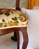 Workshop of the upholsterer, detail of an upholstered chair Royalty Free Stock Photo