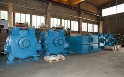 Workshop: vacuum pump construction Stock Images