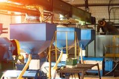 Workshop voor de productie en de verwerking van koolzaad, biofuel productie, productie van raapzaadolie royalty-vrije stock foto