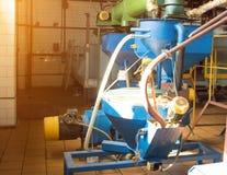 Workshop voor de productie en de verwerking van koolzaad, biofuel productie, productie van raapzaadolie royalty-vrije stock foto's