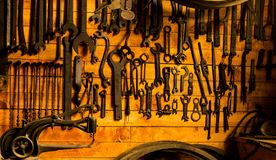 The Workshop Wall at Coal Creek stock images