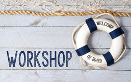 Workshop - Welcome on Board Stock Photo