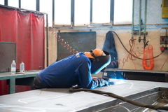 Workshop - welding blowtorch Royalty Free Stock Images