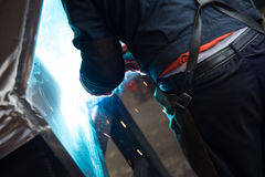 Workshop - welding blowtorch Royalty Free Stock Image