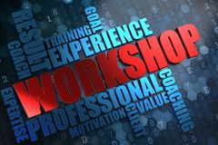 Workshop. Wordcloud Concept. Stock Photos
