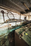 Workshops of an old factory. Which is now closed and abandoned Royalty Free Stock Photography