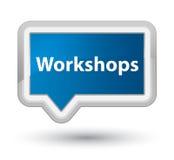 Workshops prime blue banner button Stock Photos