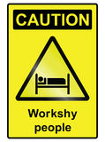 Workshy hazard Sign Stock Photos