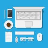 workspace vektor illustrationer