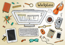 workspace stock de ilustración