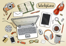 workspace illustration de vecteur