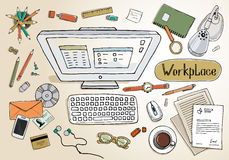 workspace illustration libre de droits