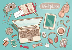 workspace ilustración del vector