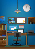 workspace Royaltyfri Bild