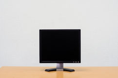 Workspace background, Blank white computer screen, monitor scree Stock Image