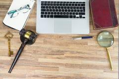 Workspace bohatera chodnikowiec z prawa gawel Obraz Royalty Free