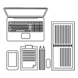 Workspace with business elements Stock Photos