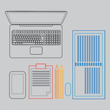 Workspace with business elements Royalty Free Stock Photography