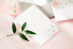 workspace Cartes d'invitation de mariage Photo libre de droits