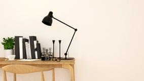 Workspace clean design-3D Rendering. For artwork Stock Photos
