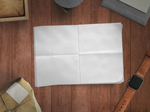 Workspace composed of postal parcel. With envelope Stock Images