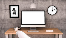 Workspace computer blank Royalty Free Stock Image