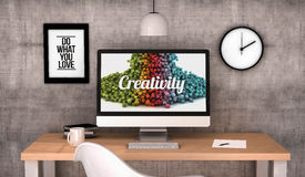 Workspace computer creativity Royalty Free Stock Photos