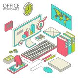 Workspace concept vector Royalty Free Stock Images