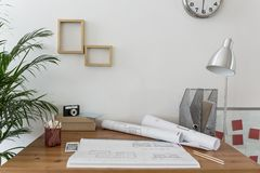 Workspace of creative designer Royalty Free Stock Image