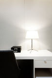 Workspace with desk lamp on home Stock Images