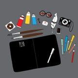 Workspace för konstnär Royaltyfri Fotografi