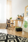 Workspace för ung hipster royaltyfri foto