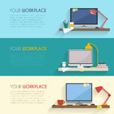 Workspace for freelancer Stock Photos
