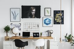 Workspace at home stock image