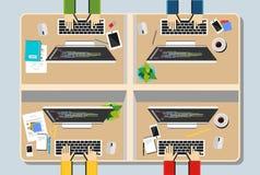 Workspace illustration. Stock Image