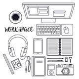 Workspace ilustracja Zdjęcie Stock