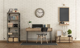 Workspace in industrial style Stock Photography